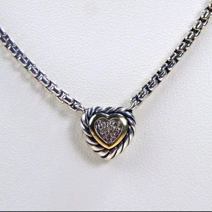 David Yurman gold and silver diamond necklace